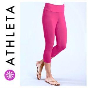 Like NEW ATHETA Pink Capri Sports PANTS Leggins
